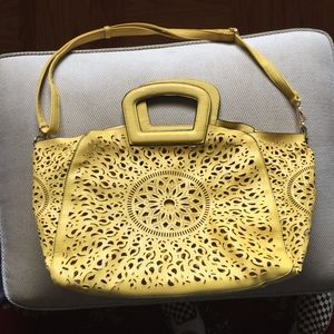 Bright Yellow Leather Melie Bianco Handbag